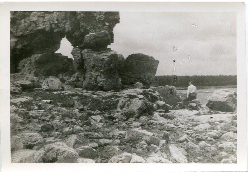 Hubbard Man on Maine beach.jpg