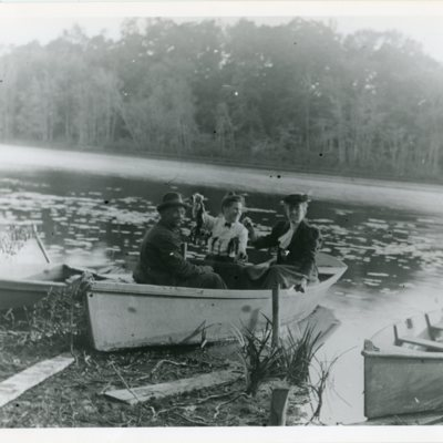 Gertrude Dudley and friends Quonnipaug Lake.jpg