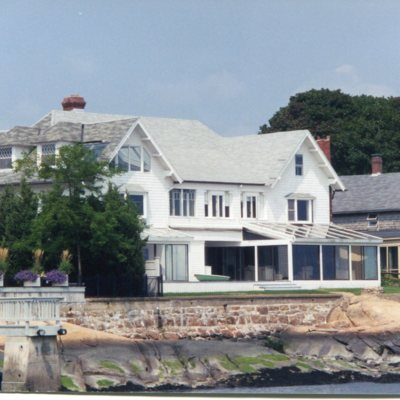 Prospect Avenue, Sachem's Head, Anchorage house, view from water, demolished October 2001, taken August 2001.jpg