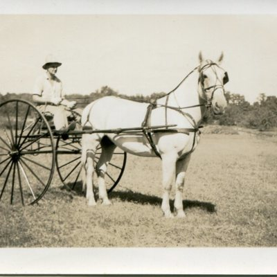 Abbott Wilcox Jr or June along with horse Prince at Foote Farm, 1937, donated by AW.jpg
