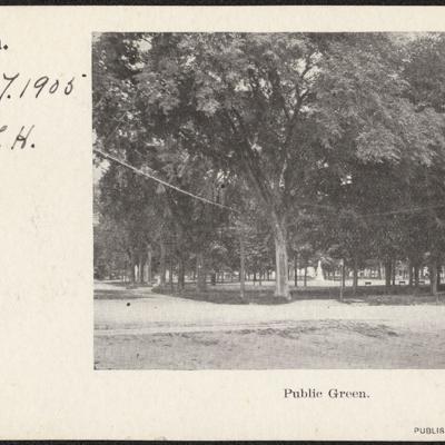 Guilford Green Postcard, 1905