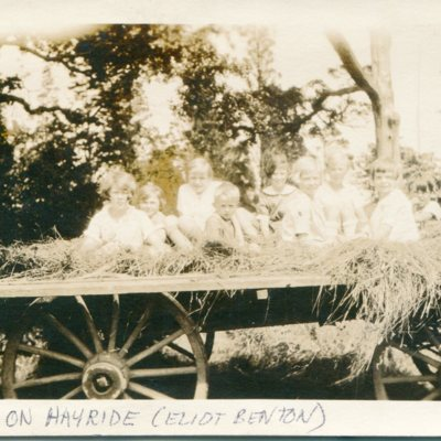 Children on hayride Eliot Benton.jpg