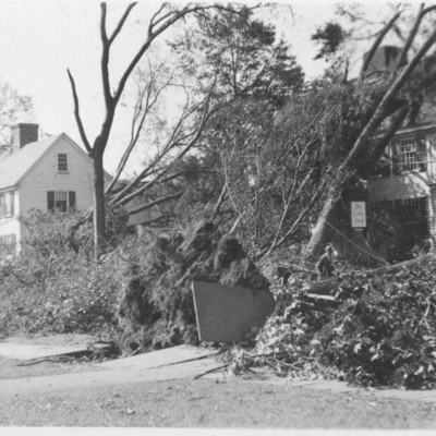 The Little Shop in Guilford after the Hurricane of 1938