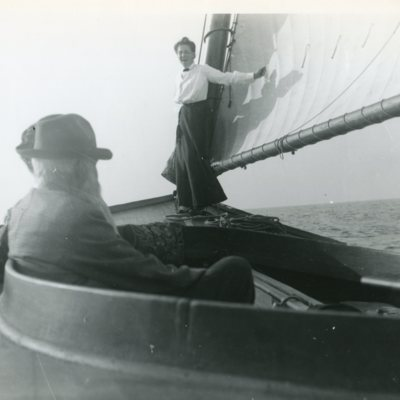Gertrude Dudley on sailboat Quonnipaug Lake.jpg