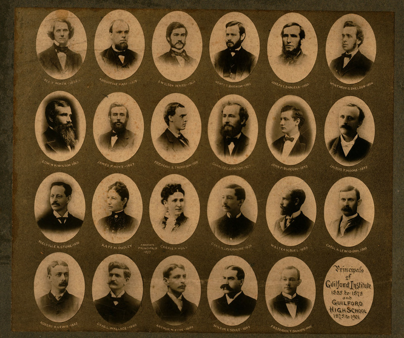 Principals of Guilford Institute 1855 to 1875 and Guilford High School 1875 to 1901.
